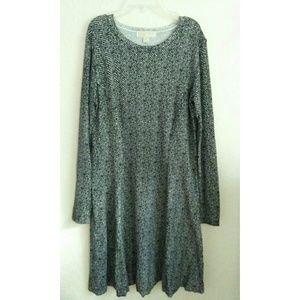 Michael Kors Black Pleated Midi Dress